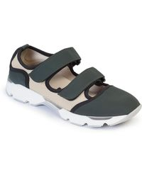 Marni Mixed Media Low-Top Sneakers - Lyst