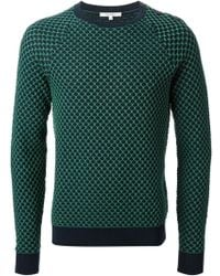 Carven Patterned Sweater - Lyst