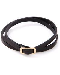 McQ by Alexander McQueen Buckle Double Wrap Bracelet - Lyst