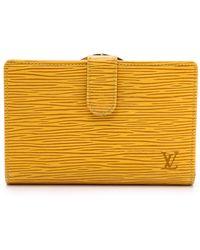 What Goes Around Comes Around Luis Vuitton Epi Wallet - Yellow - Lyst