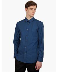 Maison Margiela 10 Men'S Blue Garment-Dyed Cotton Shirt - Lyst