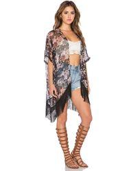 Lamade - Nico Fringe Kimono - Lyst