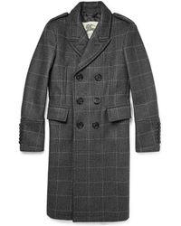Burberry London Gray Overcoat - Lyst