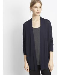 Vince | Silk Cashmere Open Front Cardigan | Lyst