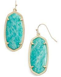 Kendra Scott 'elle' Drop Earrings - Amazonite/ Gold - Metallic