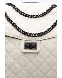 Forever 21 Quilted Faux Leather Roller Bag - Natural