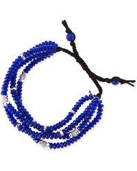 Tai 4-strand Navy Agate Beaded Bracelet - Lyst