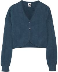 M Missoni Cropped Crochet-knit Cardigan - Lyst