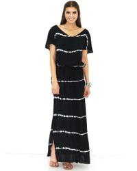 Tiare Hawaii | Uluwatu Maxi Dress In Black/white Tie Dye As Seen On Heidi Klum | Lyst