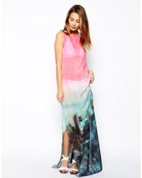 Ted Baker Asymmetric Alliey Maxi Cover Up Dress - Lyst