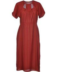 Peter Jensen Knee-Length Dress red - Lyst