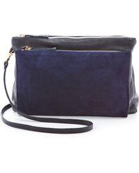 Clare V. Gosee Cross Body Bag Navy Lamba - Blue