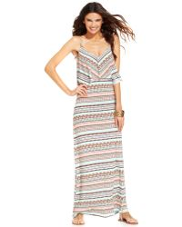 Kenneth Cole Reaction Striped Maxi Dress Cover Up - Lyst