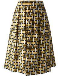 Fendi Pleated Skirt - Lyst