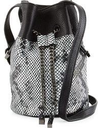Halston Heritage | Snake-embossed Leather Bucket Bag | Lyst