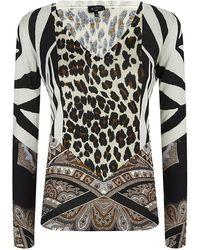 Etro Paisley Leopard Print Sweater - Lyst