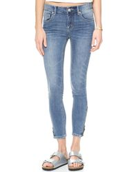 Free People High Rise Ankle Zip Jeans Kat Wash - Lyst