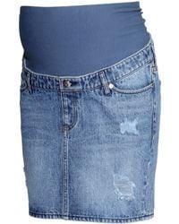 H&M Mama Denim Skirt - Lyst