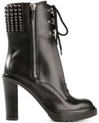 Sergio Rossi 'Rockstar' Studded Boots - Lyst