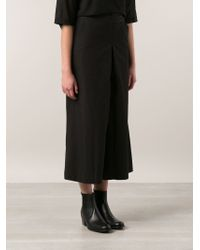 Arts & Science Wide Leg Cropped Pants - Black