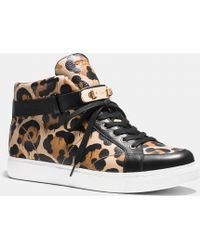 COACH Richmond Swagger Hightop Sneaker - Natural