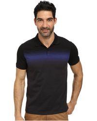 Calvin Klein Short Sleeve Engineered Striped Jersey Polo black - Lyst