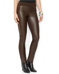 Lauren by Ralph Lauren Stretch Faux Leather Pants - Lyst