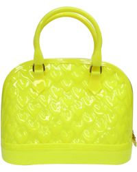 Betsey Johnson Quilted Heart Jelly Dome Satchel - Lyst