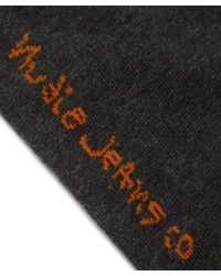 Nudie Jeans - Grey Melange Flash Sock - Lyst