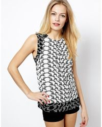 Oasis Butterfly Shell Top - Lyst