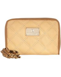 River Island Tan Quilted Zip Around Purse - Lyst