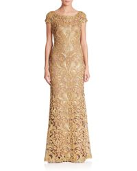 Tadashi Shoji | Cord-embroidered Lace Gown | Lyst