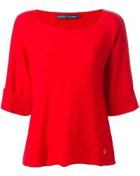 Ralph Lauren Blue Label - Round Neck Sweater - Lyst