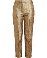 Osman Yousefzada Gold Brocade Trousers - Lyst