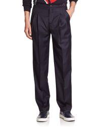 MELINDAGLOSS High-Waist Pleated Dress Pants - Lyst