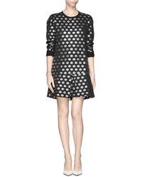 Markus Lupfer Smacker Lip Foil Print Sweatshirt Dress - Lyst