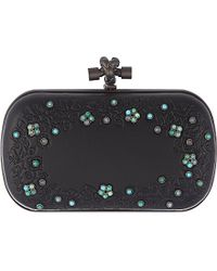 Bottega Veneta Knot Crystal-Embellished Clutch Bag - For Women - Lyst