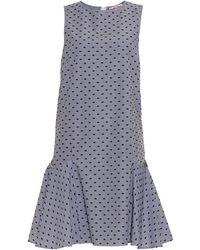 See By Chloé Striped Cotton Fil-Coupé Dress - Lyst