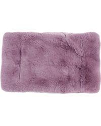Barneys New York Purple Fur Cowl - Lyst