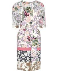 Etro Printed Wool Dress - Lyst