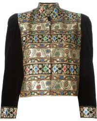 Guy Laroche Brocade Jacket - Metallic