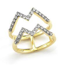 Elizabeth and James Maru 23k Gold Plated Zigzag Ring