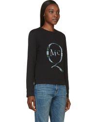 McQ by Alexander McQueen Black Plaid Logo Patch Sweatshirt - Lyst