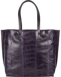 Zagliani Ayers & Leather Reversible Tote - Lyst