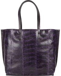 Zagliani Ayers & Leather Reversible Tote purple - Lyst