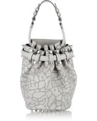 Alexander Wang Diego Leopard-Print Leather Shoulder Bag - Lyst
