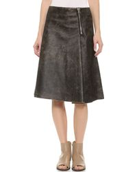 Acne Studios Sky Vintage Leather Skirt  - Lyst