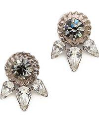 Dannijo Rubie Earrings Silvercrystalblack Diamond - Lyst