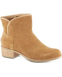Ugg Darling Suede Ankle Boots Brown - Lyst