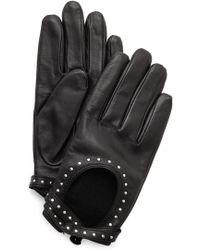 Club Monaco - Adee Driving Gloves - Black/Gold - Lyst